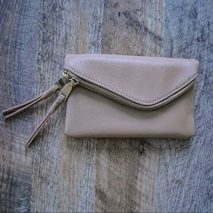 Handbags - Beige clutch/crossbody
